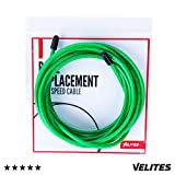 Skipping Rope Spare Replacement Cable for Crossfit, Fitness and Boxing by VELITES | Green PVC, steel 4 mm diameter | For Hard Training | Compatible with other brands.