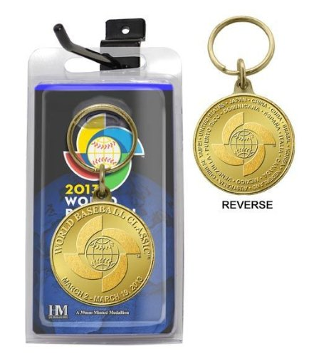 Highland Mint WBC13BBKEYK 2013 World Baseball Classic Bronze Coin Keychain