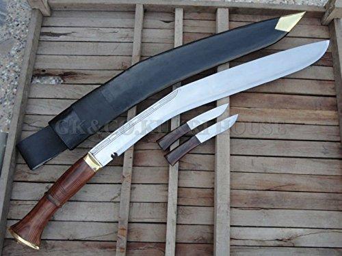 Rosewood Handle Leather - Genuine Gurkha Kukri- 46 inches long