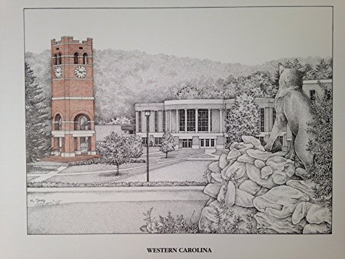 Western Carolina University - Bell Tower 11''x14'' pen and ink print by Campus Scenes (Image #5)