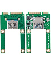 ASHATA mSATA to USB Conversion Card,Mini PCI-E Expansion Converter Adapter,Mini PCI-E USB2.0 Interface,for WIN2000/XP/Vista/Win7/Win8/LINUX