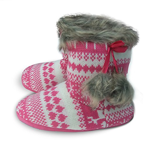 and Boot for Ankle Health Warm Women Girls Amazing Pink Slippers qfF6Z7cw