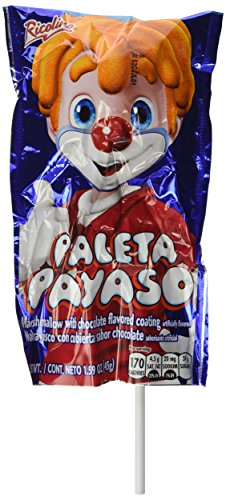 Marshmallow Lollipop with Chocolate and Gummies - Paleta Payaso (10 (Marshmallow Chocolate Lollipop)