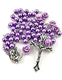 Nazareth Store Catholic Purple Pearl Beads Rosary