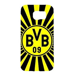 3D Fashion Design Borussia Dortmund Phone Case Plastic Phone Case for Samsung Galaxy S6 Dortmund BVB Logo