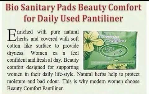 Happyland2u Bio Sanitary Pads Beauty Comfort - Bio Sanitary Pads for Daily Used Pantiliner 1 Bag/10 Pack. Long 16 Cm. by Happyland2u (Image #2)