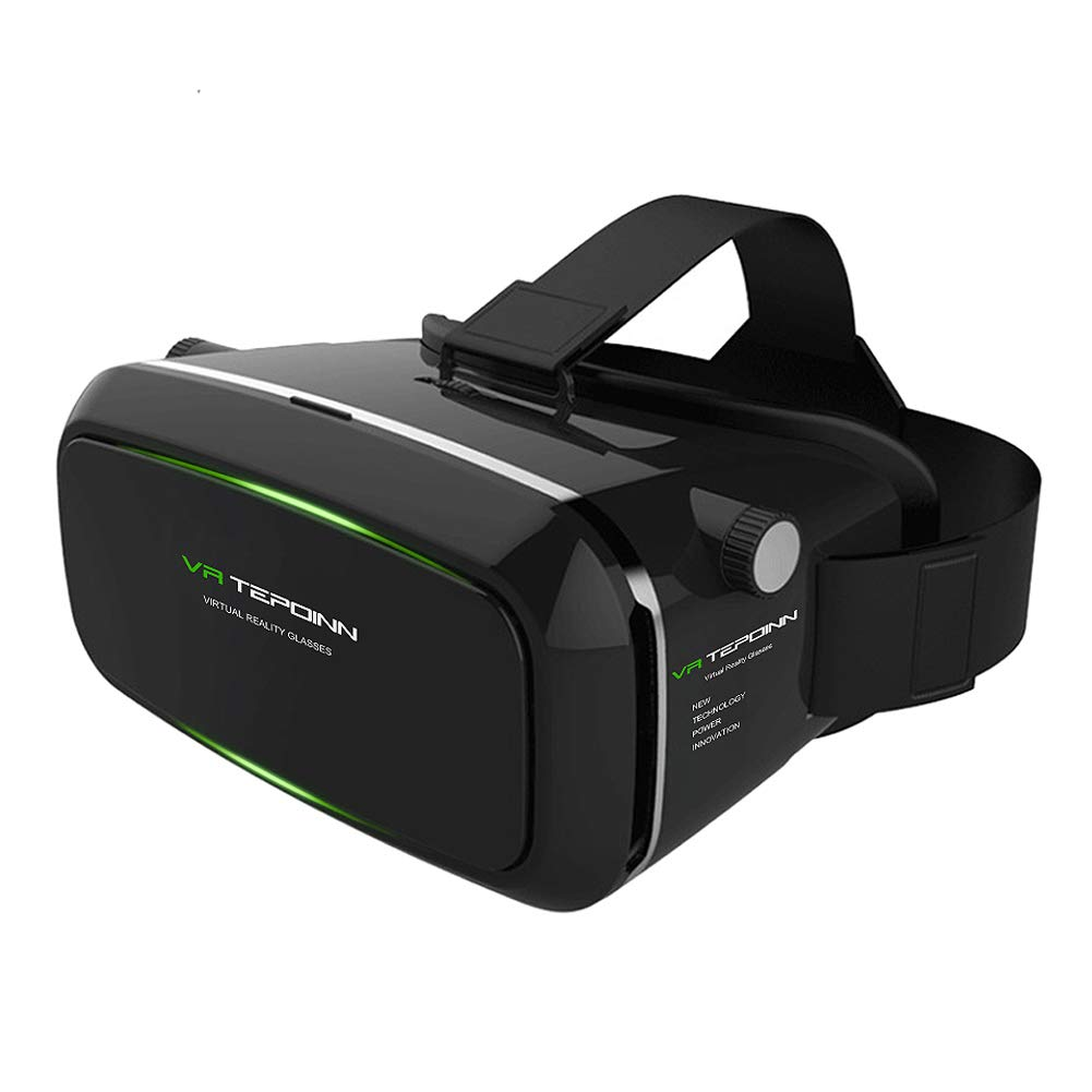 VR Headset TEPOINN Virtual Reality Headset for iPhoneX/ 8/ 8plus/7/7plus/6/6plus/6s/5, Samsung, LG & All Android Smartphone With Magnetic Front Cover, Adjust Strap