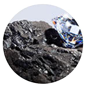 alfombrilla de ratón El diamante y el carbón - ronda - 20cm