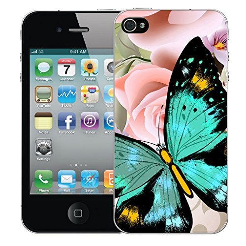 Mobile Case Mate iPhone 5c Silicone Coque couverture case cover Pare-chocs + STYLET - Heavenly Butterfly pattern (SILICON)
