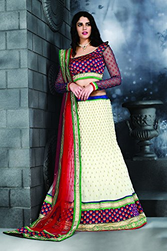 Choli Traditional White 19 Wedding Ethnic Facioun Indian Lehenga Designer Da Partywear v8FqxP