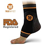 Best Copper Infused Compression Ankle Brace, Silicone Ankle Support w/ Anti-Microbial Copper....