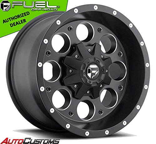 Fuel Revolver 15x8 Black Wheel / Rim 5x4.5 & 5x4.75 with a -18mm Offset and a 72.60 Hub Bore. Partnumber D52515800437
