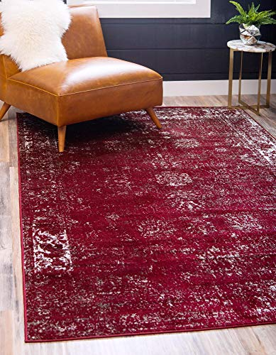 Unique Loom 3134050 Sofia Collection Traditional Vintage Burgundy Area Rug (5' 0 x 8' 0), Rectangle (Maroon 5 This Christmas Is)
