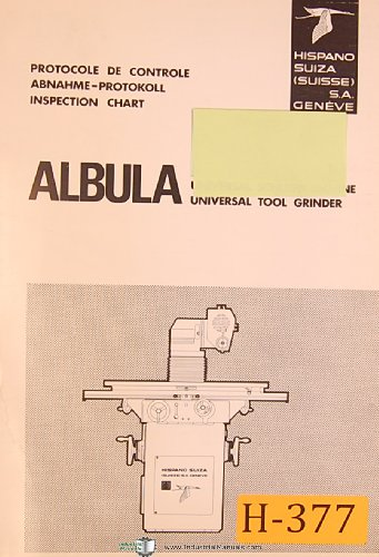 hispano-suiza-albula-universal-tool-grinder-operaitons-and-parts-manual