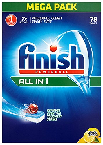 finish all in 1 max dishwasher tablets lemon 90 per pack