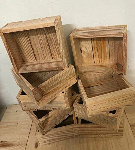 rebajas oferta pack 3 cajas madera natural decoracion,ideal para añadir tus regalos usar como