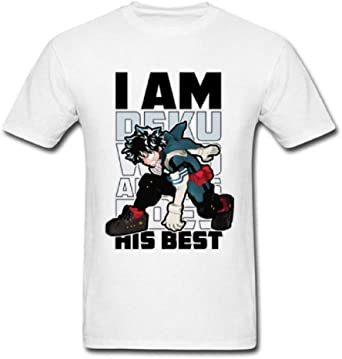 My Hero Academia Deku Izuku Midoriya Boku No Hero Plus Ultra - Camiseta - Blanco - Large: Amazon.es: Ropa y accesorios