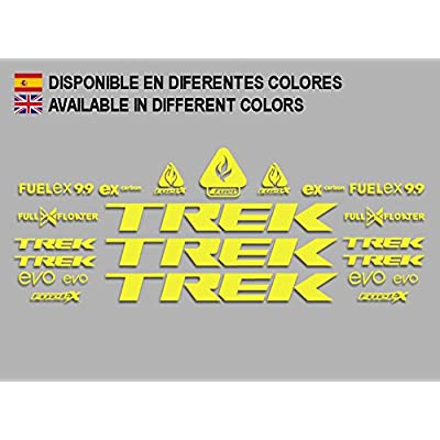 Ecoshirt 7Z-GVD7-MQXS Stickers Trek Fuel Ex 9.9 Bikes F144 Stickers Aufkleber Decals Autocollants Adesivi MTB BTT, Yellow: Automotive