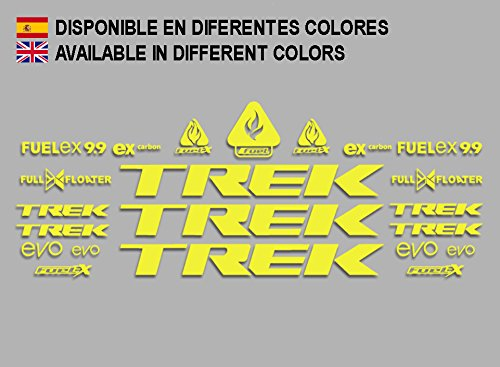 Ecoshirt 7Z-GVD7-MQXS Stickers Trek Fuel Ex 9.9 Bikes F144 Stickers Aufkleber Decals Autocollants Adesivi MTB BTT, Yellow