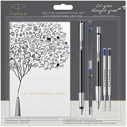 penna stilografica Vector in acciaio inox Parker personalizzabile