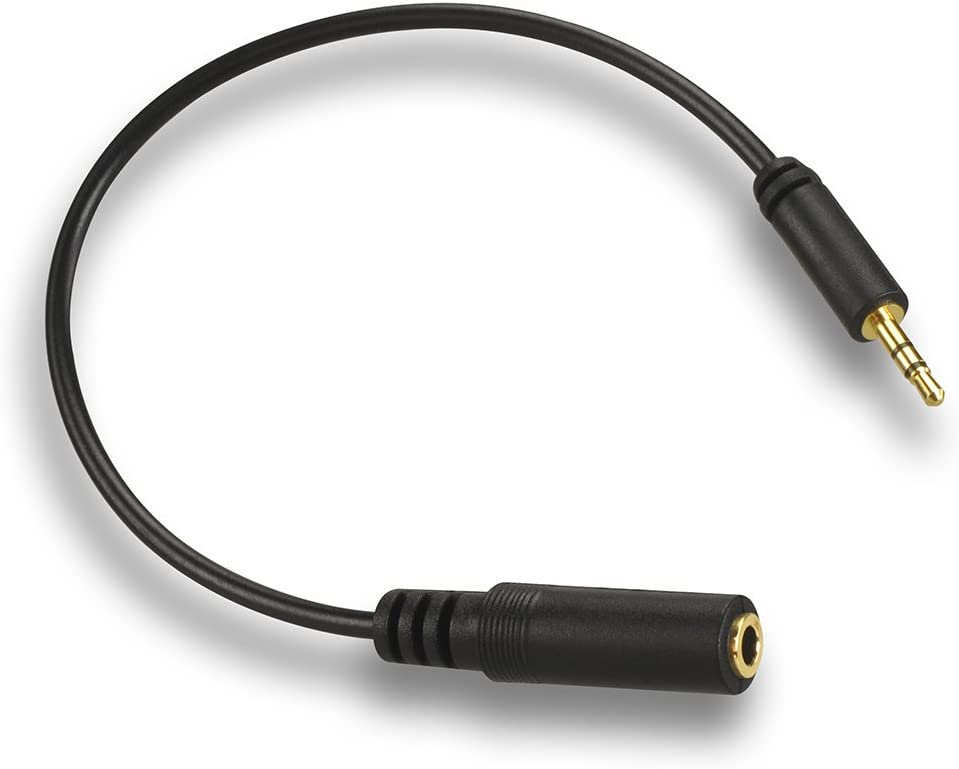 VCE 2.5mm Male to 3.5mm Female Stereo Jack Cable Adapter