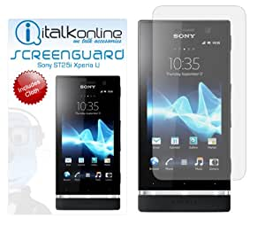 iTALKonline S-Protect (Paquete De 2) 3 Capa de la tecnología LCD Protector de pantalla con un paño de limpieza de fibra Micro para Sony Ericsson ST25i Xperia U
