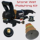Stadea SWP105K Stone Concrete Countertop Grinder Polisher Wet Stone 4'' Concrete Polishing Kit