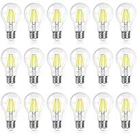 18-Pack SHINE HAI A19 4W 5000K Daylight LED Vintage Filament Bulb (Omnidirectional)