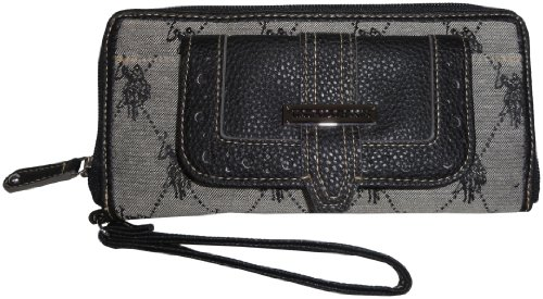 U.S. Polo Assn. Gatsby LG Cell Phone Wristlet Wallet,Black,One Size