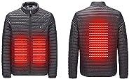 HGWXX7 Men USB Abdominal Back Electric Heating Winter Warm Outwear Coats Puffer Down Jacket