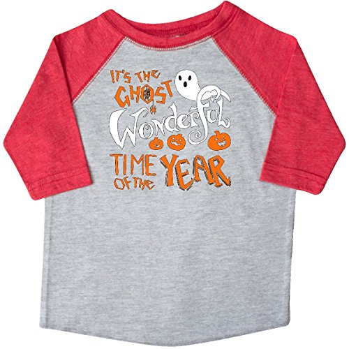 Inktastic - It's the Ghost Wonderful Toddler T-Shirt 3T Heather and Red (Halloween Pumpkin Songs For Preschoolers)