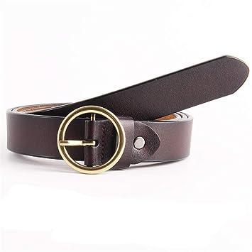 Cinturón de mujer para mujer Hebilla redonda Cinturón de ...