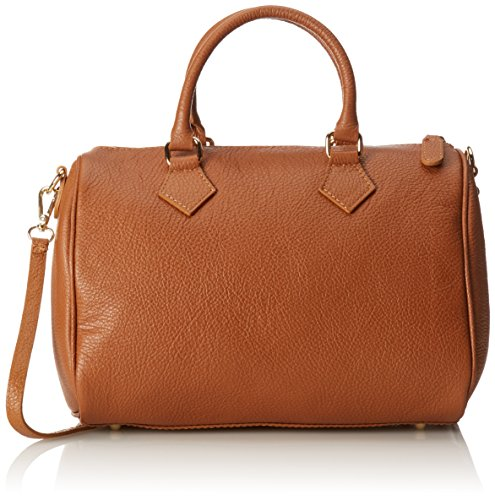 100 Cuoio Satchel Made Orange 30x23x18cm Hand CTM in Italy Bag Women wfA7v6qX