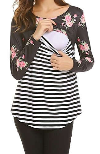 Women's Faux Wrap Maternity Dress With Adjustable Belt (XL, ()
