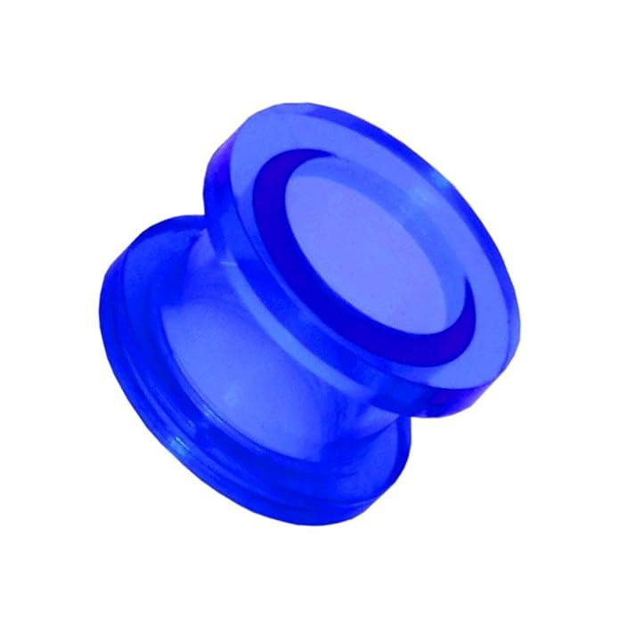 1x Expansor Túnel Flesh Tunnel Plug Piercing Oreja Acrílico Pendientes Dilataciones 2 3 4 5 6 8 10 12 mm