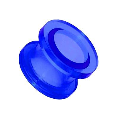 1x Expansor Túnel Flesh Tunnel Plug Piercing Oreja Acrílico Pendientes Dilataciones 2 3 4 5 6 8 10 12 mm, Farbe2:blau/blue/bleu - 10mm: Amazon.es: Joyería