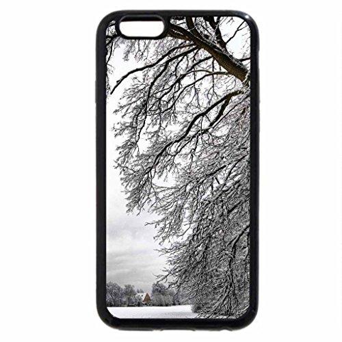 iPhone 6S Case, iPhone 6 Case (Black & White) - amazing winter landscape