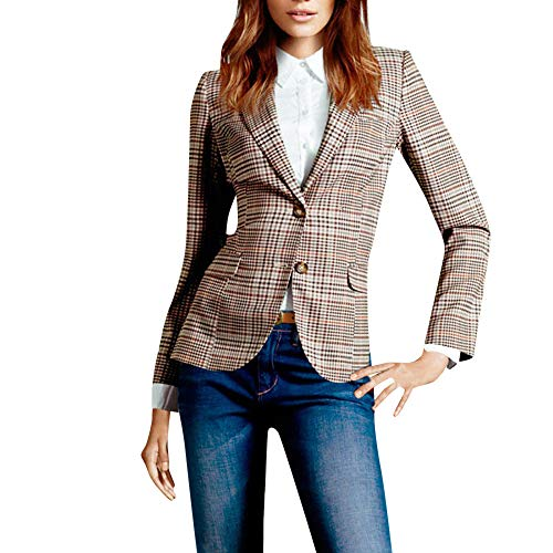HYIRI Bottoming Casual Work Button Suit,Women Office Coat Blazer Jacket Suits