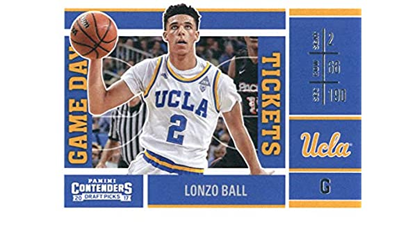 88bc889f4 Amazon.com  2017-18 Panini Contenders Draft Picks Game Day Tickets  2 Lonzo  Ball UCLA Bruins  Collectibles   Fine Art