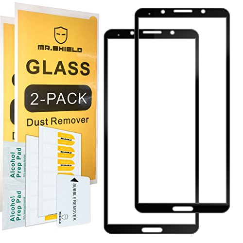 [2-Pack]-Mr.Shield for Huawei Mate 10 [Japan Tempered Glass] [9H Hardness] [Full Cover] Screen Protector with Lifetime Replacement