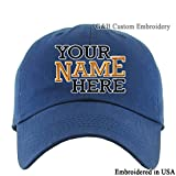 KB ETHOS Adjustable Cap Embroidered. Place Your Own Text Or Words (Navy)