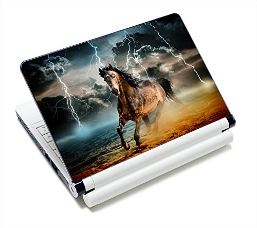 AUPET Personalized Laptop Skin Sticker Decal,12 13 13.3 14 15 15.4 15.6 inch Laptop Skin Sticker Cover Art Decal Protector Notebook PC(Cool Running Horse)