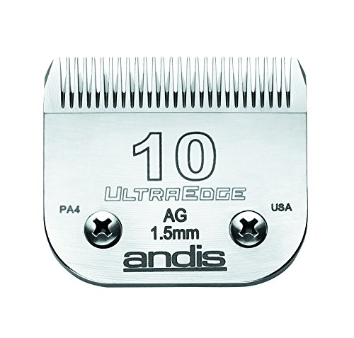- Andis Carbon-Infused Steel UltraEdge Dog Clipper Blade, Size-10, 1/16-Inch Cut Length (64071)