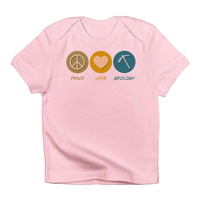 5421a7877 CafePress - Peace Love Geology Infant T-Shirt - Cute Infant T-Shirt,
