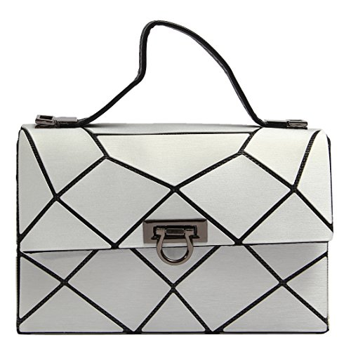 Quilted Plaid Handbag - 1