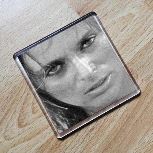 SYBIL DANNING - Original Art Coaster #js001]()