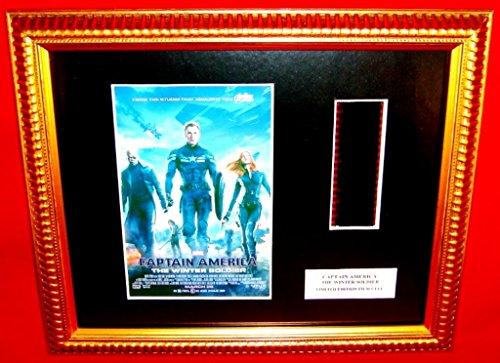 ¡ Captain America / Winter Soldier ¡ CAPTAIN AMERICA: THE WINTER SOLDIER (2014) ¡ Chris Evans as Steve Rogers ( Captain America ) ¡ film cell + Mini Poster framed items (1-1) ¡ Limited Edition # (Captain America The Winter Soldier Online)