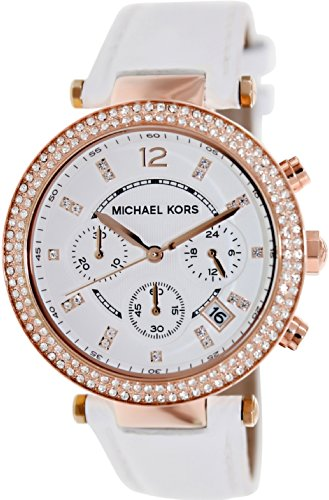 Michael Kors Watches Parker Watch (White/Rose Gold) by Michael Kors