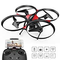 DROCON Traveler / U818A Plus FPV Drone Upgraded with Altitude Hold Mode - 120 Degree Wide Angle 720P HD Camera with Optical Anti-Shake Function - 15 Minutes Long Flying Time RC Quadcopter