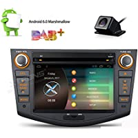 XTRONS 7 Android 6.0 Quad Core Capacitive Touch Screen Car Stereo Radio DVD Player with Screen Mirroring Function OBD2 DAB+ for Toyota RAV4 2006-2011 Reversing Camera